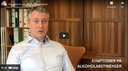 Symptomer på alkoholabstinenser