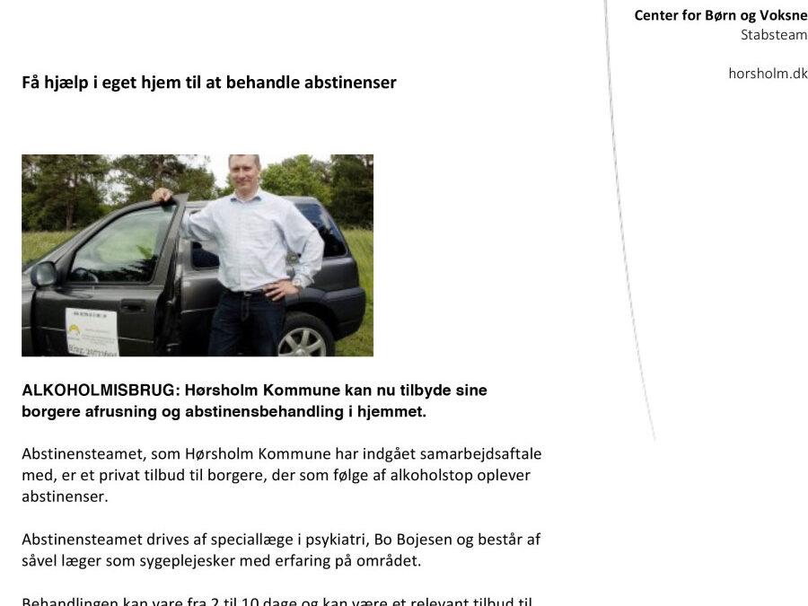 Pressemeddelse om samarbejdet med Hørsholm kommune